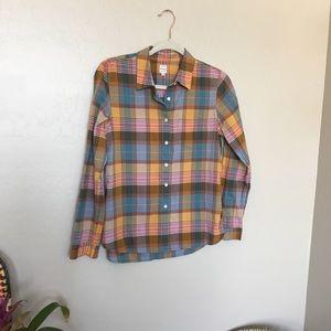 Madewell plaid button down shirt | Medium